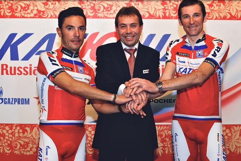 Katusha - Rodriguez, Ekimov and Menchov (source Katusha)