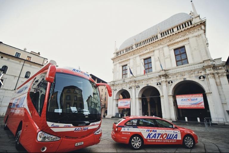 Katusha vehicles (credit Katusha)
