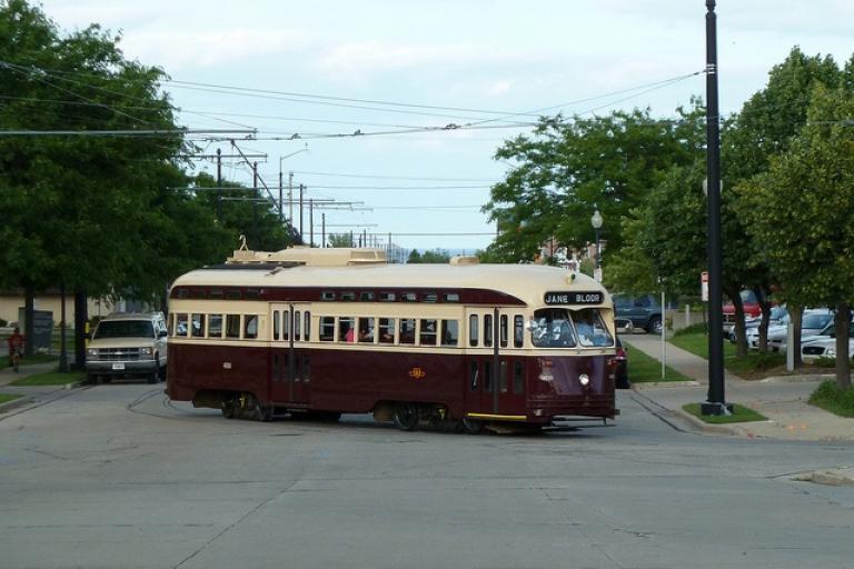 Kenosha streetcar (image CC licensed by Kevin Zolkiewicz via Flickr)