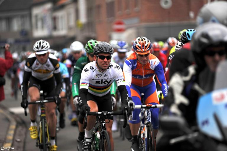 Kuurne Brussel Kuurne is one of the races that may be disrupted by the increased threat level. Here's Cav in the 2012 edition (CC BY-NC 2.0 Cindy:Flickr)