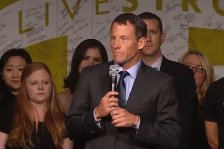 Lance Armstrong Livestrong speech You Tube still