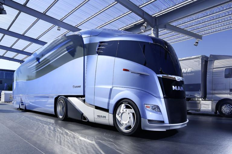 Man and Krone aerodynamic lorry