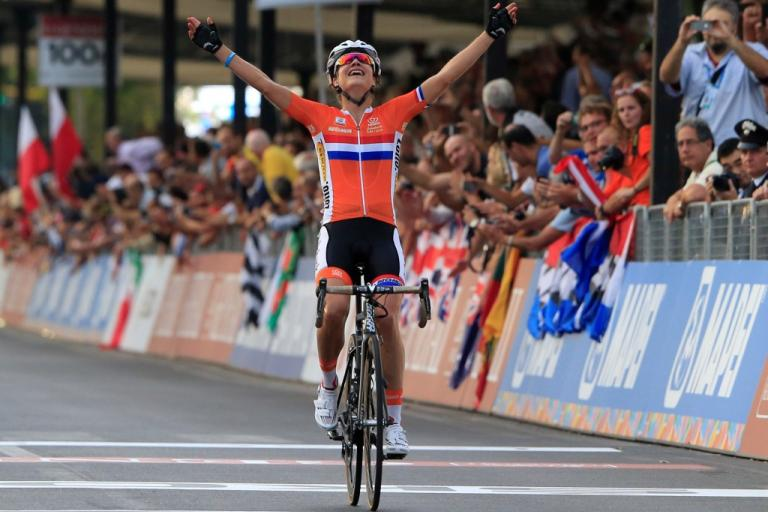 Marianne Vos wins 2013 road worlds (picture credit Toscana 2013)
