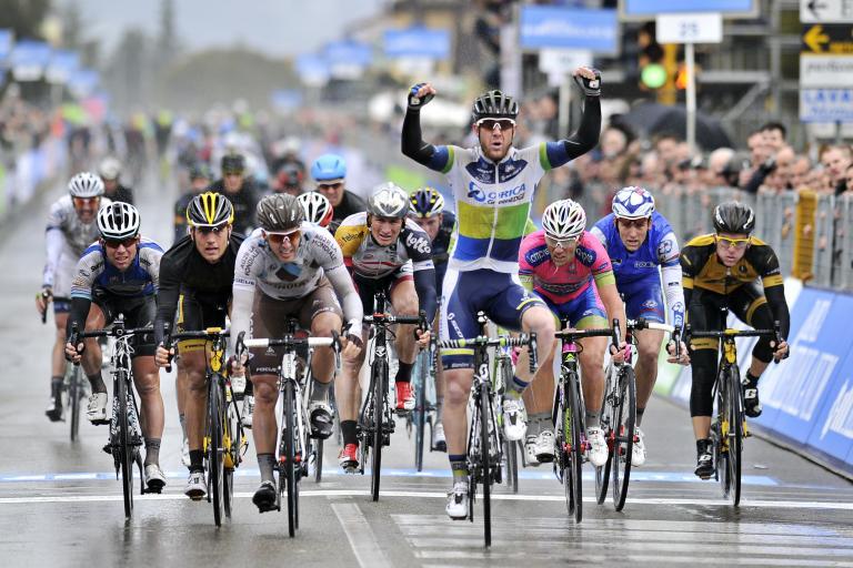 Matt Goss wins Stage 2 of 2013 Tirreno Adriatico (pic Gian Mattia d'Alberto, LaPresse, RCS Sport)
