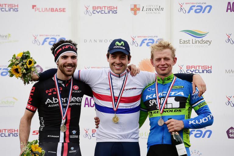 Men's TT national championships podium 2015 (copyright Allan McKenzie, SWpix.com)