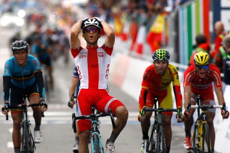 Michal Kwiatowski wins 2014 road world championship (Pic Rafael Gomez, ESE)