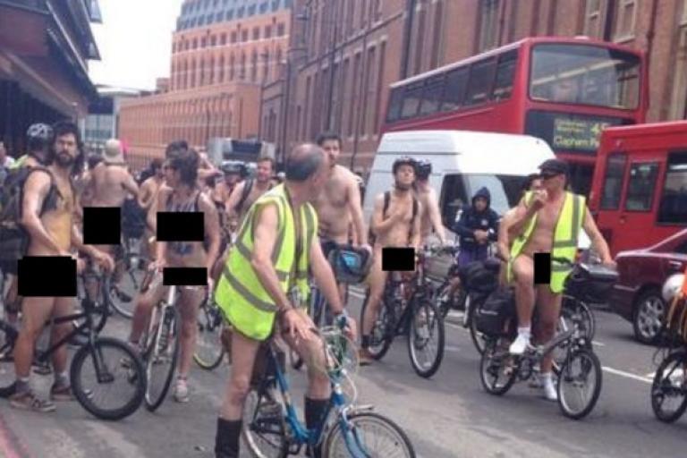 Naked Bike Ride London © @namallanka