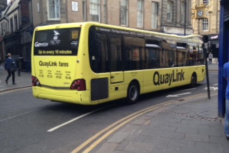Newcastle Clayton Street contraflow bus lane Newcycling Rupert