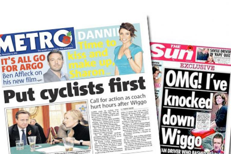 Newspapers react to Wiggins and Sutton incidents