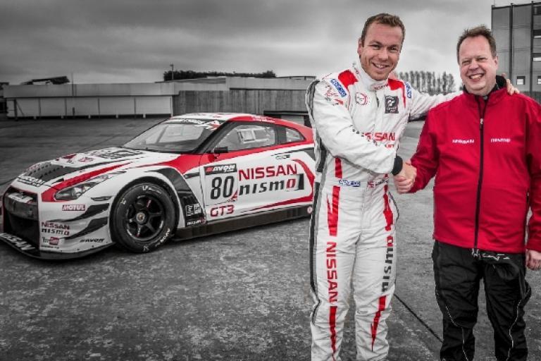 Nissan Executive VP Andy Palmer and Sir Chris Hoy