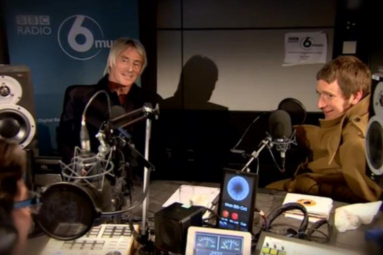 Paul Weller and Bradley Wiggins with Colin Murray on BBC Radio 6 (picture BBC video still)