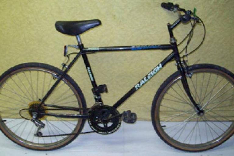 Photo of blue bike similar to that ridden by Derek Abbott, released by Surrey Police