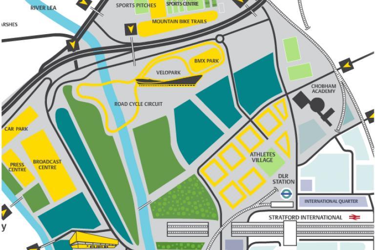 London Olympic Legacy Velopark - the original plan