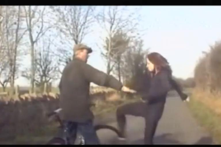 Gloucestershire road rage ninja woman kick