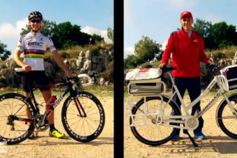 Postie Francois vs World champion Philippe Gilbert