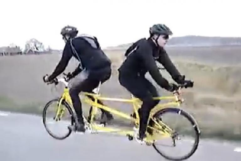 Push Me-Pull You Tandem (Facebook video still)