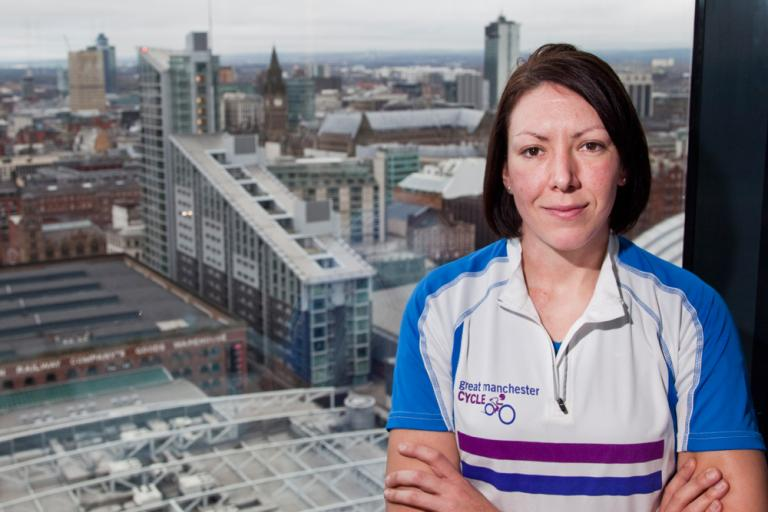 Rebecca Romero Daily Mirror Great Manchester Cycle