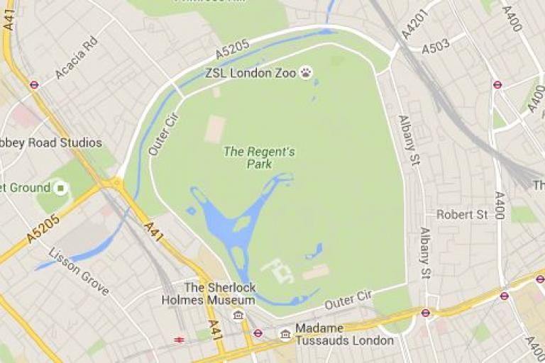 Regents Park (source Google Maps)