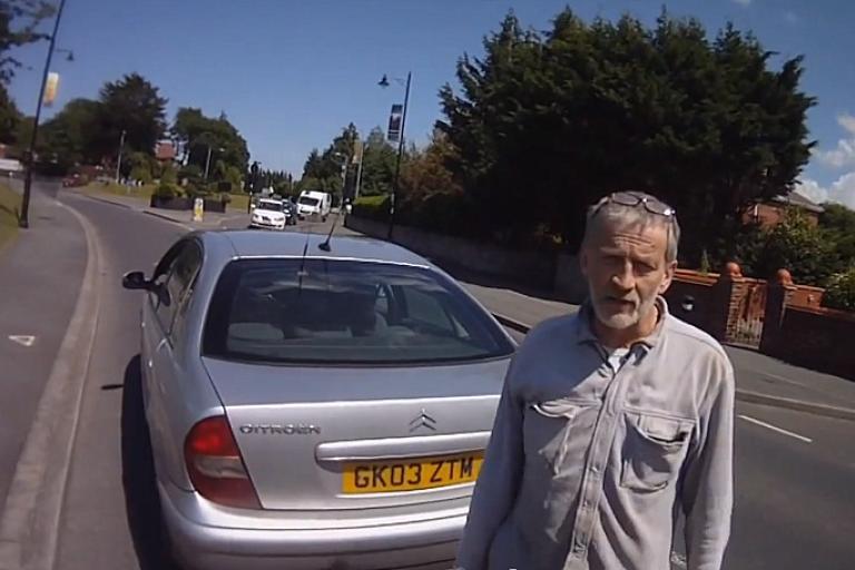 Road rage confrontation