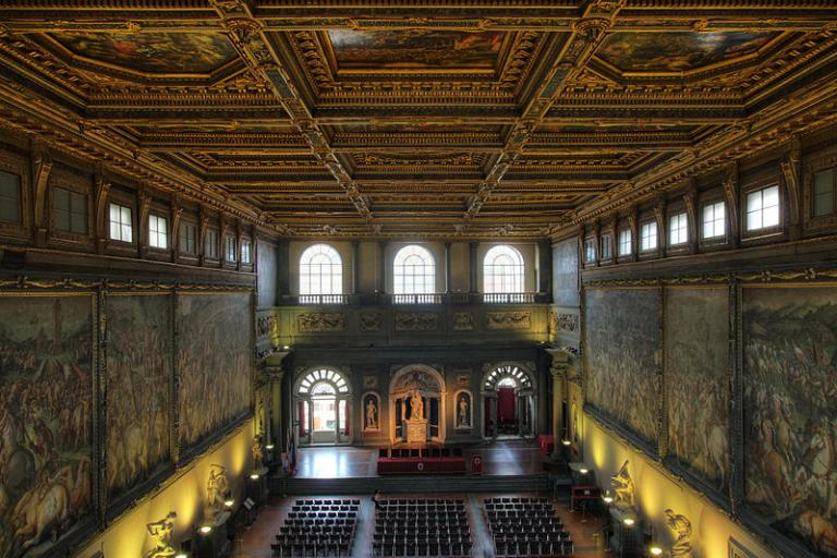 Salone del Cinquecento, Palazzo Vecchio, Florence - site of 2013 UCI Congress (CC licensed by Eusebius)