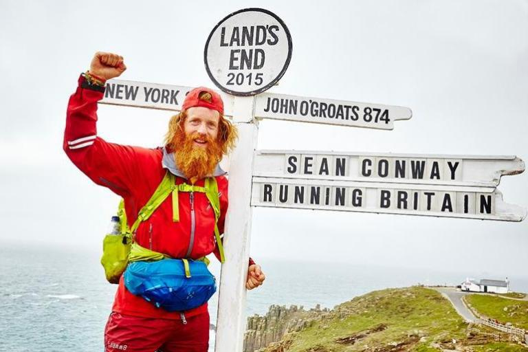 Sean Conway finishes
