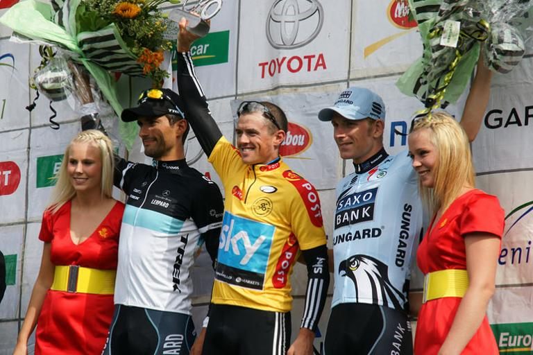 Simon Gerrans on the Tour of Denmark podium picture Mogens Engelund Wikimedia Commons.jpg