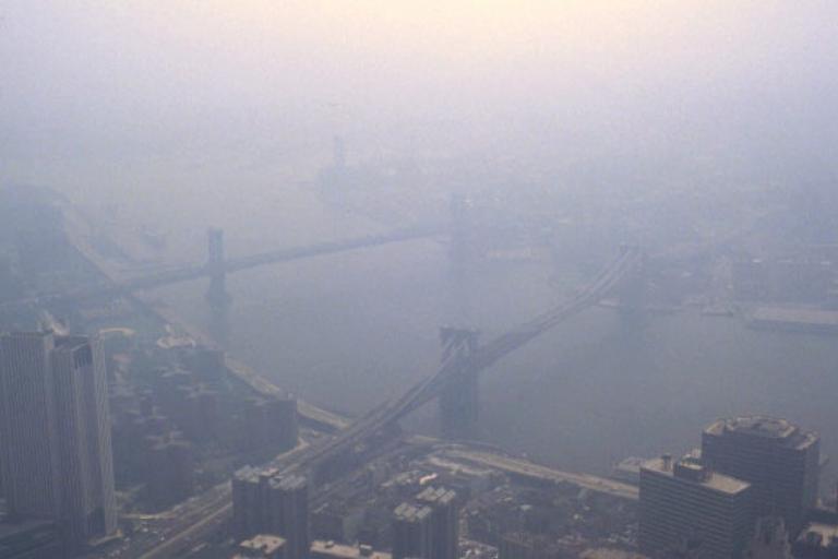 Smog over NYC… blame the cyclists…