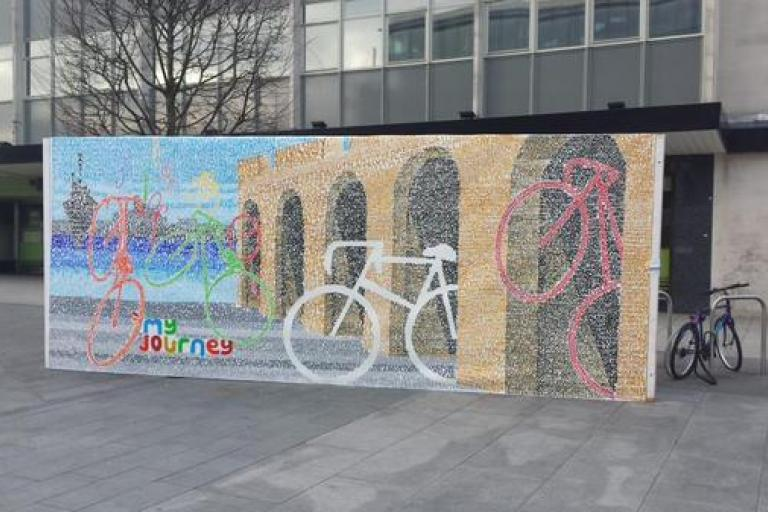 Southampton cycling mural (source My Journey Hampshire on Twitter)