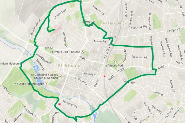 St Albans Green Ring route