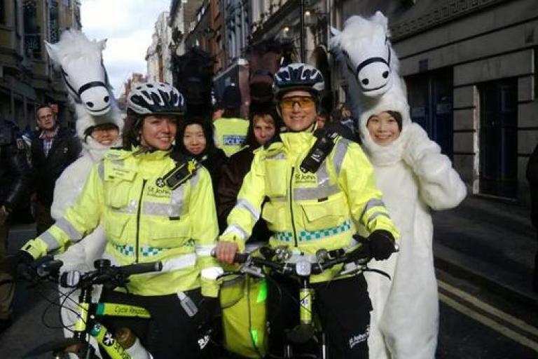 St John Ambulance Cycle Responders (image via twitter user SJALondonCRU)