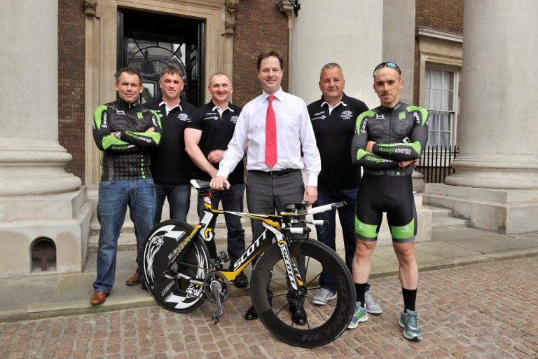 Strategic Lions Andy Watson, Philip Riley, Ian Morgan, Jon Stott, Kevin Dawson with deputy prime minister Nick Clegg low res