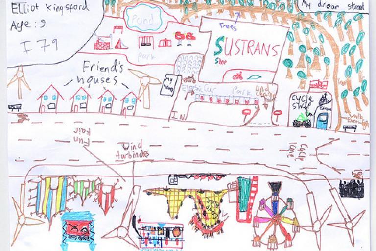 Sustrans Dream Streets Elliott winning entry