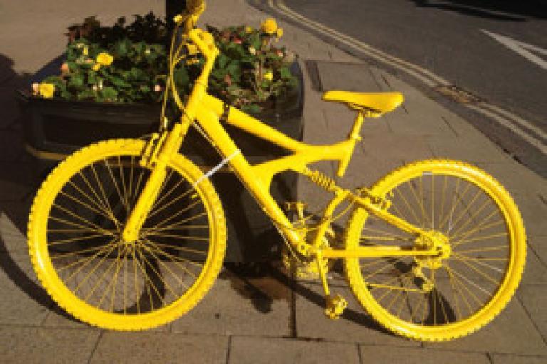 TDF Yellow Bike (picture credit Bike Rescue Project)