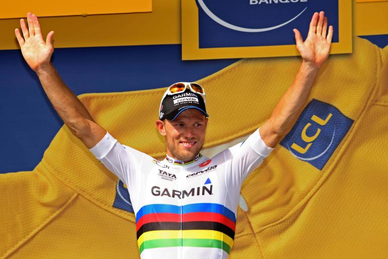 THor Hushovd celebrates winning 2011 TDF Stage 13 copyright PhotoSport International.jpg