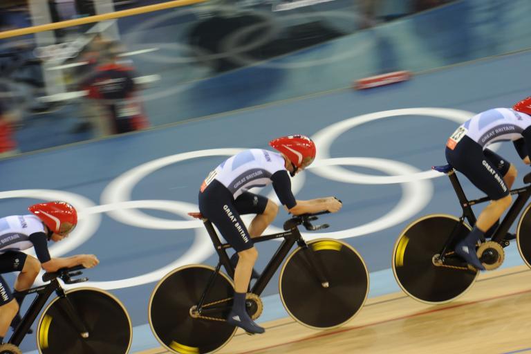 Team GB Women's Team Pursuit London 2012 (copyright britishcycling.org.uk)