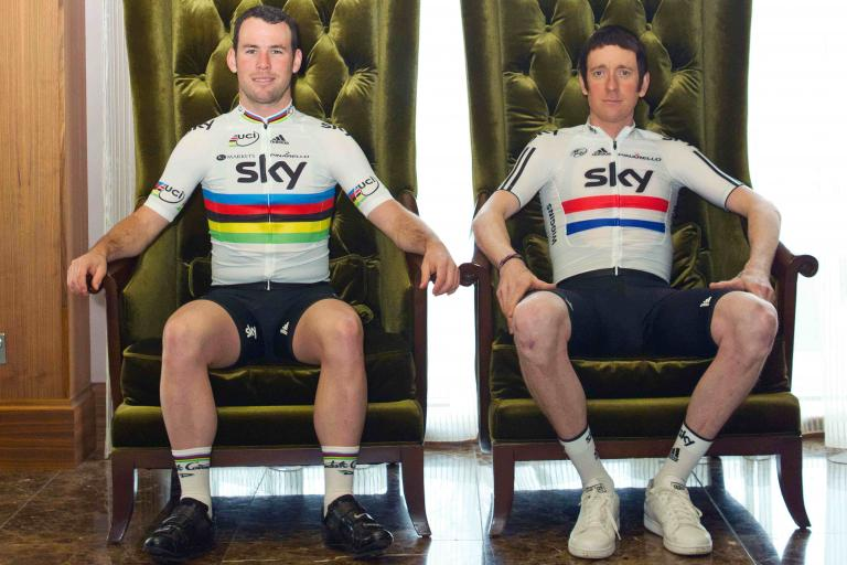 Team Sky Mark Cavendish and Bradley Wiggins (picture credit Team Sky:Jeff Moore)