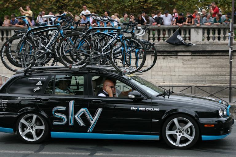 Team Sky car (copyright Andy Cunningham via Flickr)