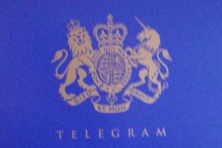 Telegram from the Queen