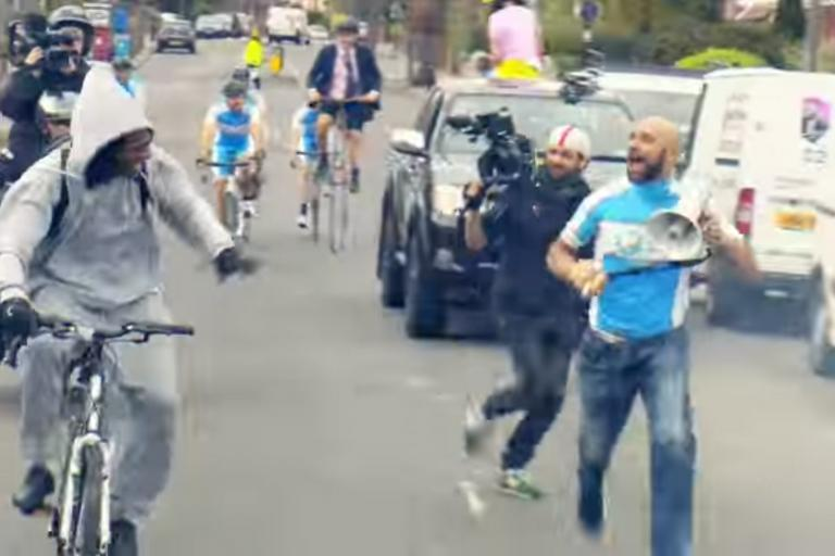 Tesco Mobile cycle commuting advert