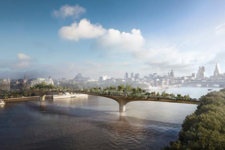 The Garden Bridge as envisioned by Heatherwick Studio