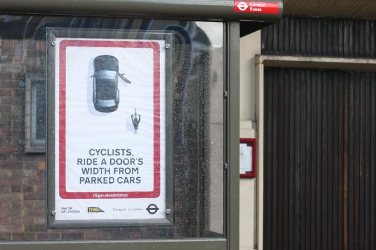 Think cyclist poster 1