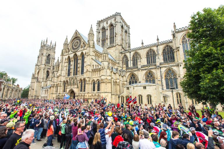 Tour de France 2014 Stage 2 in York (picture courtsesy Welcome to Yorkshire)