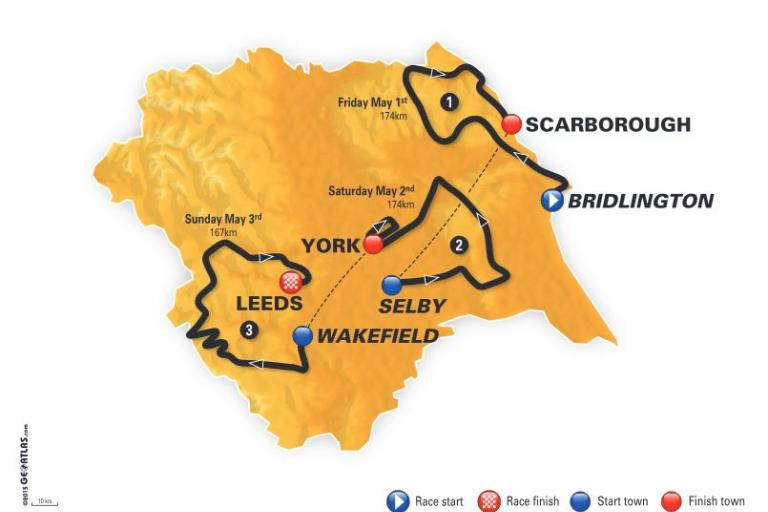Tour de Yorkshire 2015 route