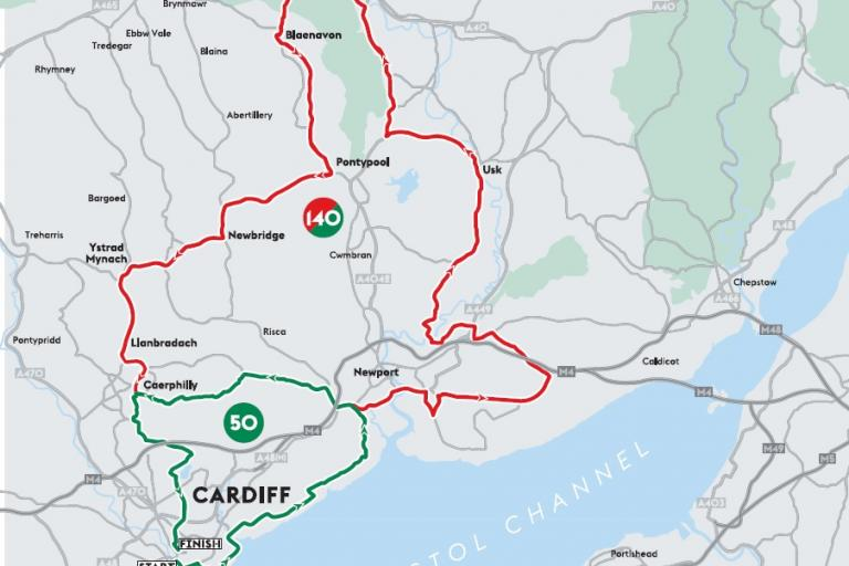 Velothon Wales 2015 route