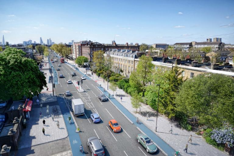 Proposed improvement to Cycle Superhighway 2