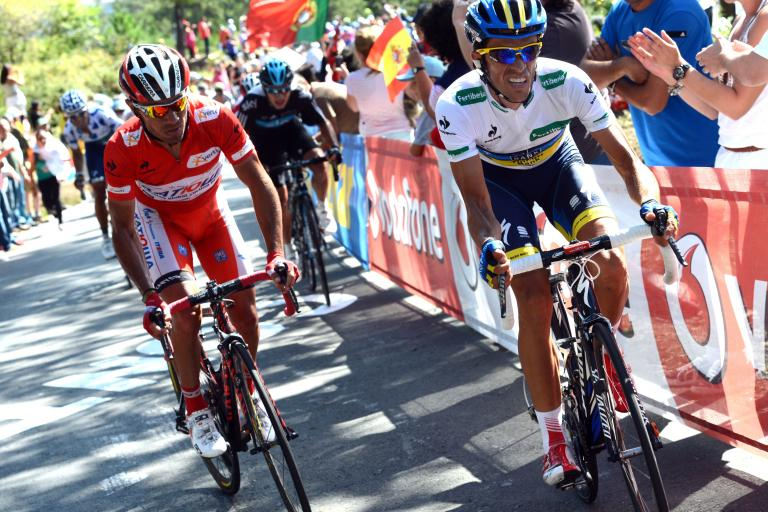 Vuelta 2012 S12 Rodriguez and Contador attack (copyright Unipublic:Graham Watson)