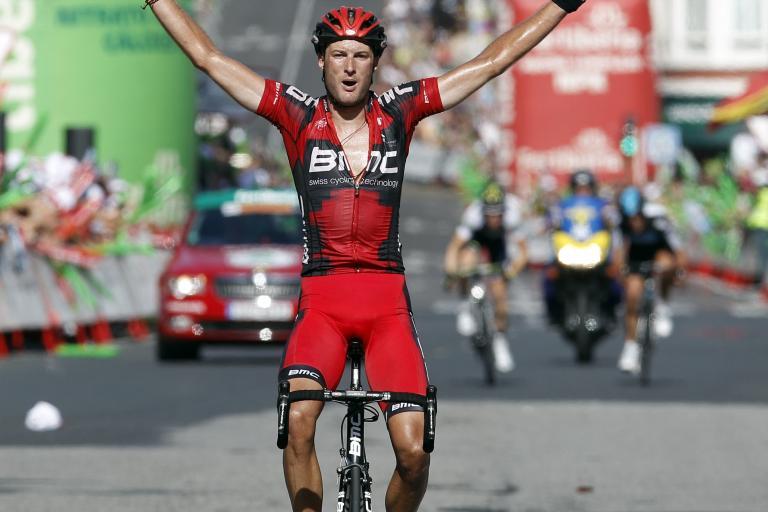 Vuelta 2012 S13 Steve Cummings celebrates his victory (copyright Unipublic:Graham Watson)