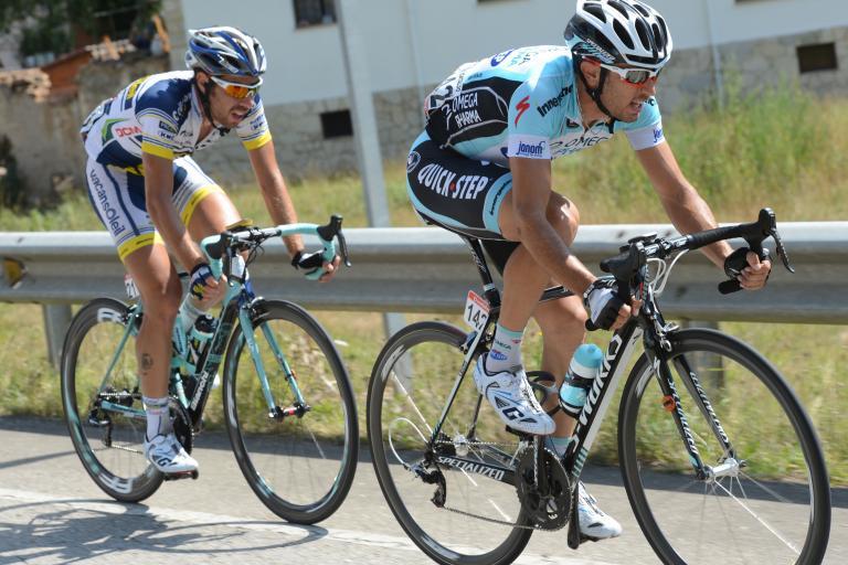 Vuelta 2012 S16 Cataldo and De Gendt (copyright Unipublic:Graham Watson)