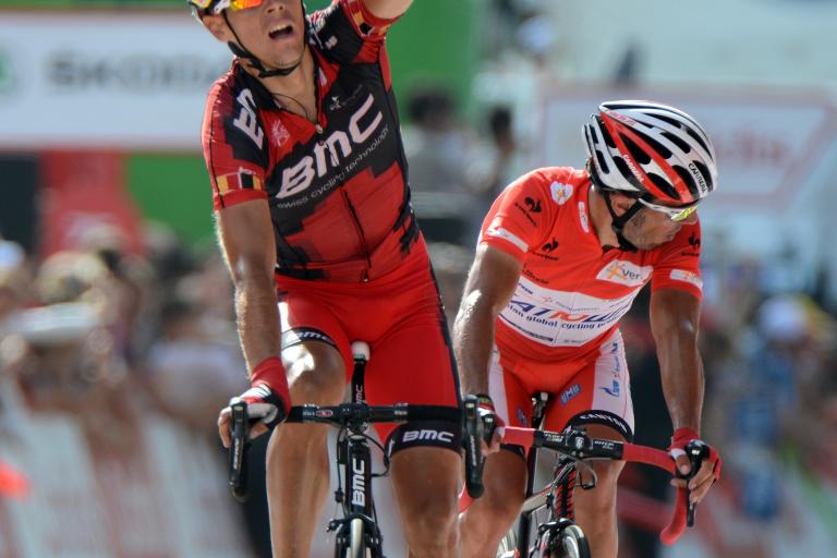 Vuelta 2012 S9 Gilbert wins from Rodriguez in Barcelona (copyright Unipublic:Graham Watson)