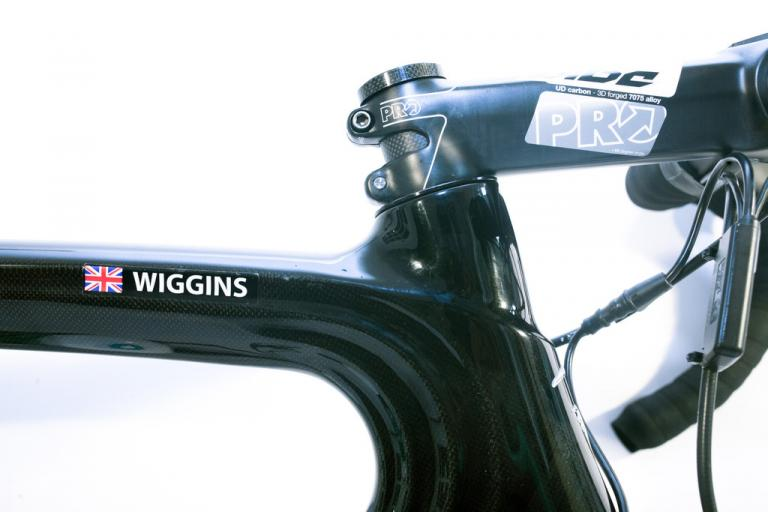 Wiggins top tube detail (picture - London Cycle Exchange)